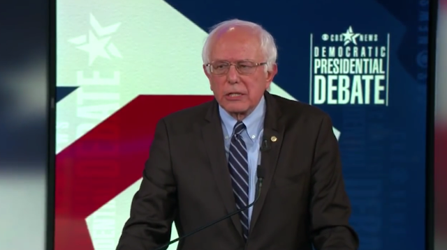 Bernie Sanders CBS News Democratic presidential debate