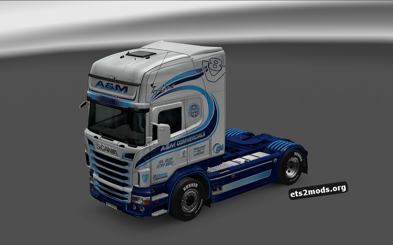 A&M Commercials Skin of Scania RJL