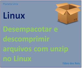 Desempacotar arquivos zipados com unzip no Linux