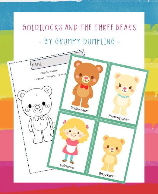 It is a picture of Goldilocks and the Three Bears Story Printable with regard to written
