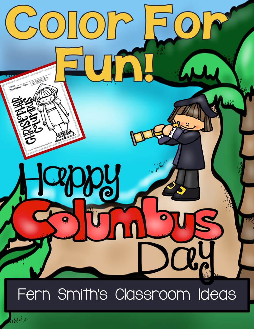 Columbus Day Fun! Color For Fun Printable Coloring Pages
