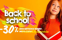 Logo Pittarello ''Back to School'' -30% sull'articolo bimbo meno caro