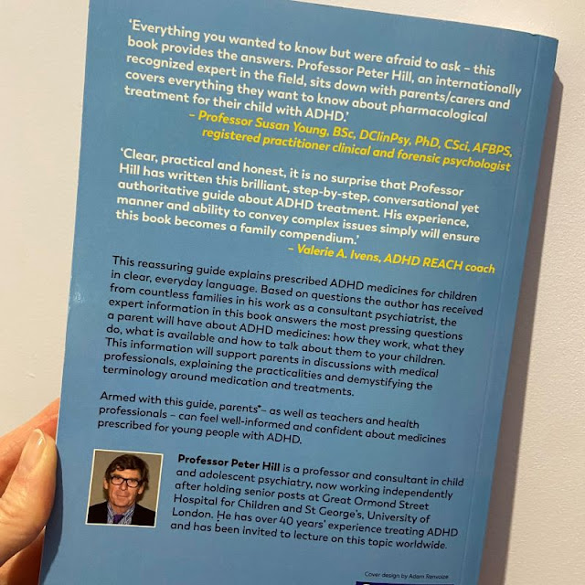 Back cover of book parents guide to adhd medicines