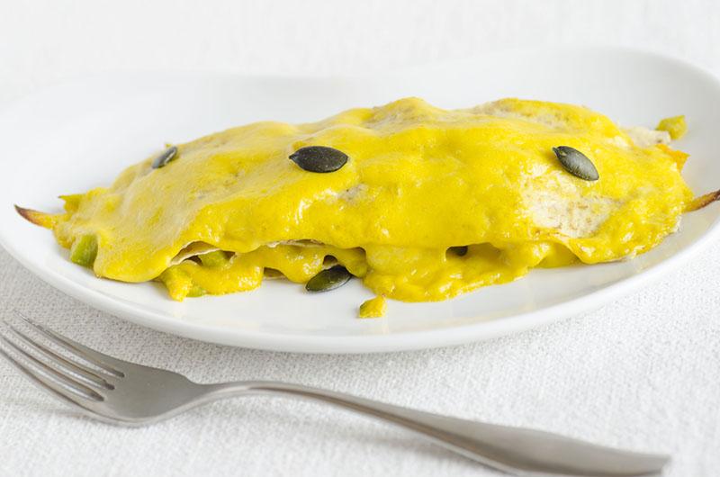 lasagnette con zucca e provola