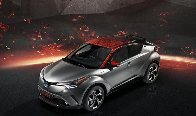 Toyota C-HR Hy-Power concept volcanic reinterpretation more powerful