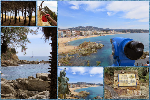 Cliff walk in Lloret de Mar, Costa Brava, Spain