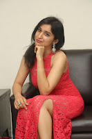 Sakshi Kakkar in Red Legsplit Sleeveless Gown at Dare movie Press meet ~  Exclusive 042.JPG