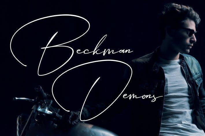Beckman Demons Font