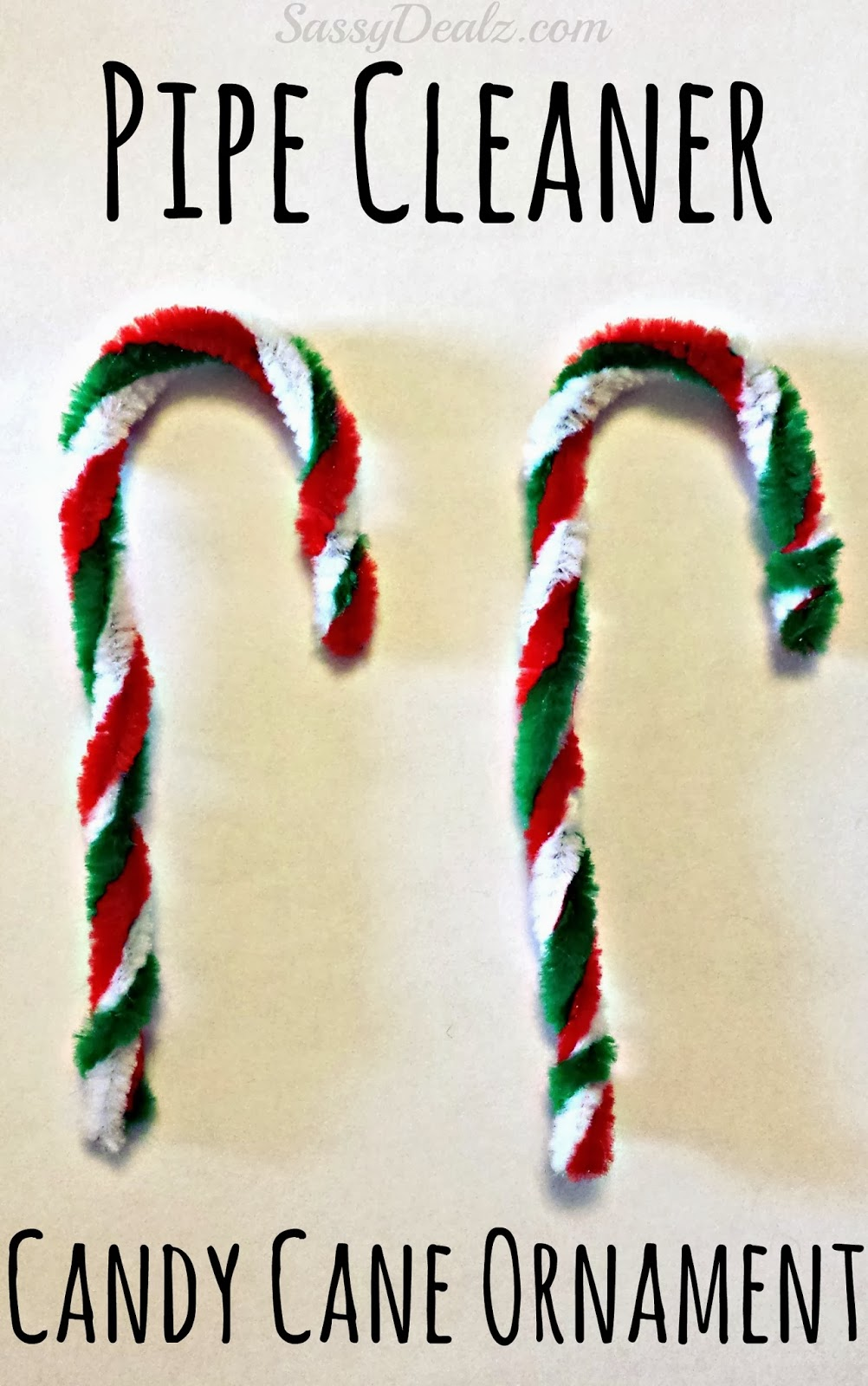 Easy Pipe Cleaner Candy Cane Ornament For Kids - Crafty ...