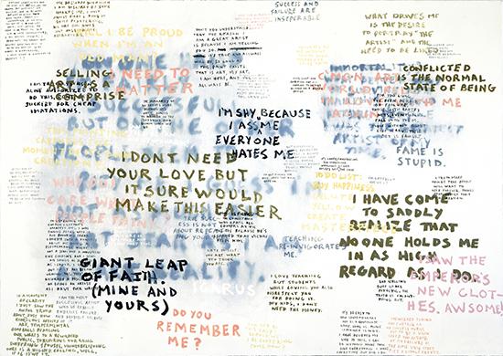 Sean Landers Giant Leap of Faith, 2003 Oil on linen 152.4 x 213.4 cm