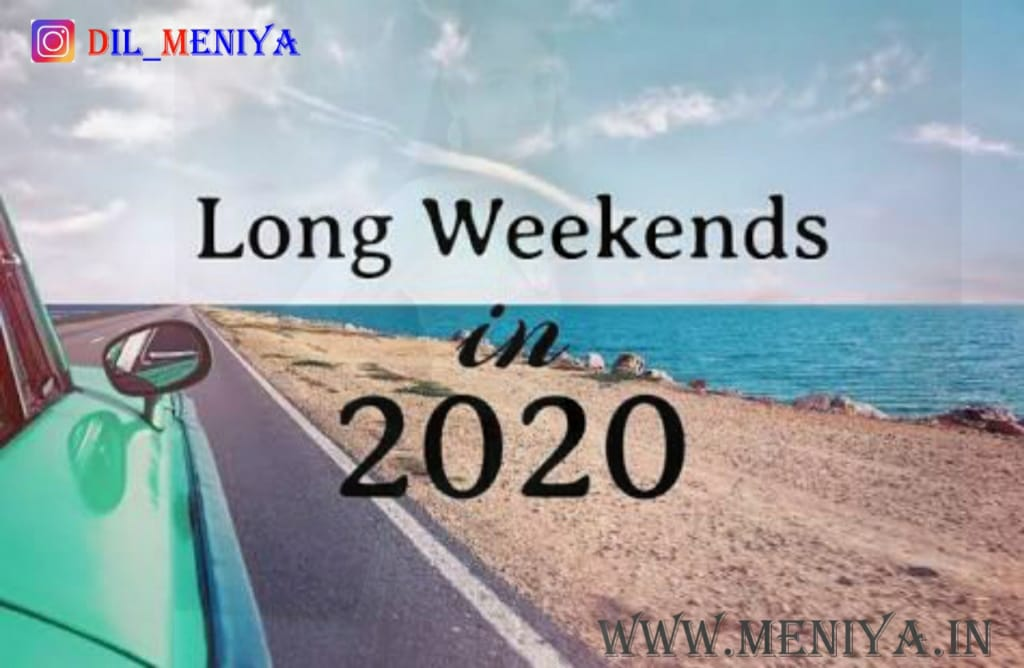long weekends of 2020