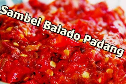 Resep Sambal Balado Padang Pedas (Paling Populer)