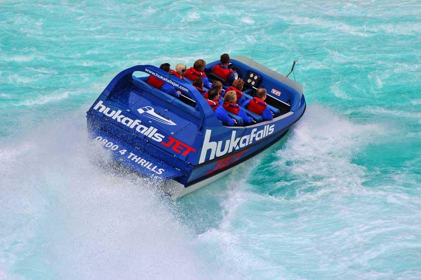 Huka jet boat trip