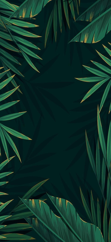 wallpaper green dark jungle for mobile phone