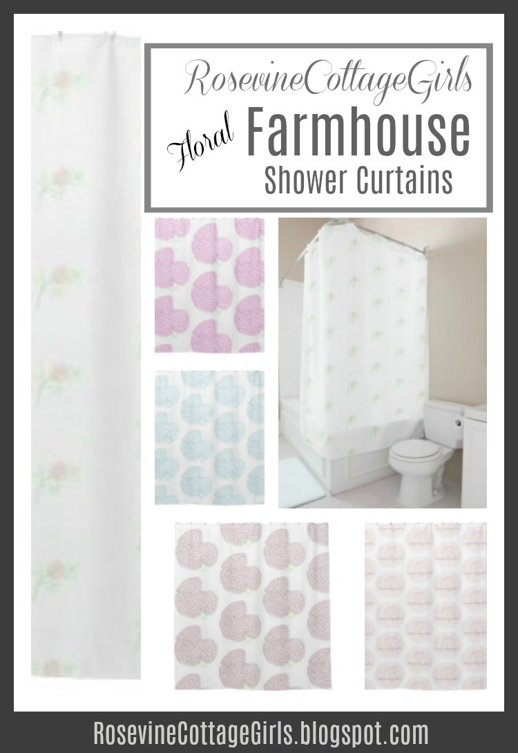 Cottage Shower Curtain Rosevine Cottage Girls Cottage Shabby Chic Shower Curtains