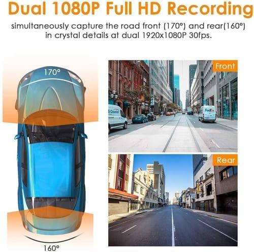 Review Vantrue S1 Dual Front and Rear Dash Cam