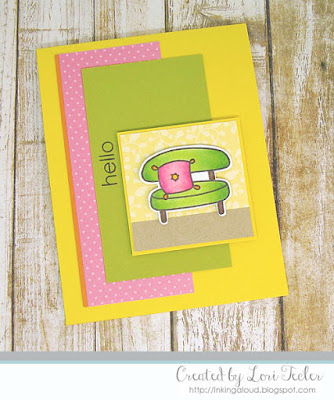 Hello card-designed by Lori Tecler/Inking Aloud-stamps from Paper Smooches
