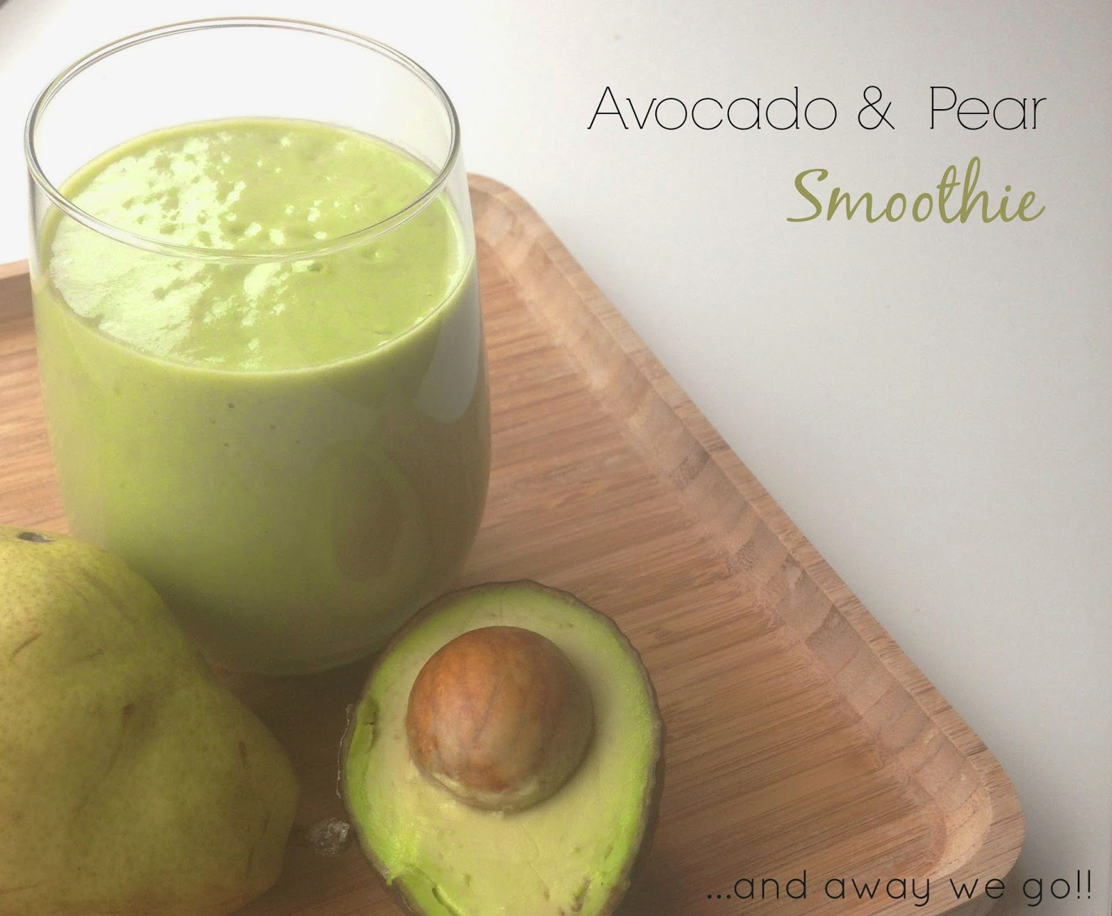 avocado & pear smoothie