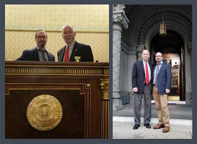 R.W. Thomas Gamon and Travis Simpkins. Masonic Temple in Philadelphia. Grand Lodge of Pennsylvania