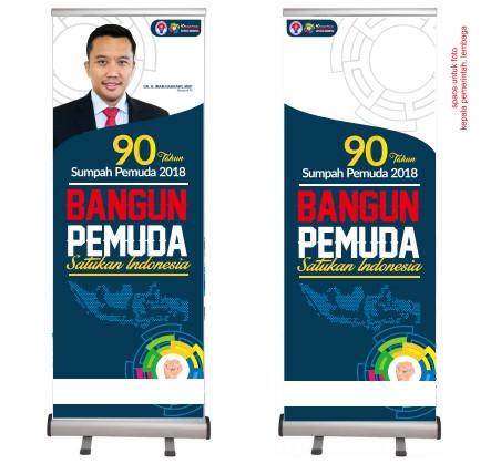 Spanduk Banner Baliho Hari Sumpah Pemuda 90 2018 Informasi Desain