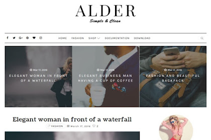 Alder Free Customizable Blogger Templates