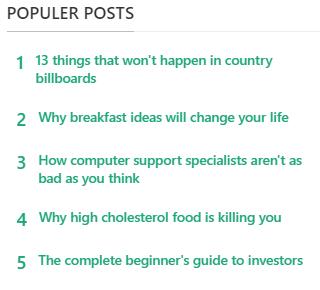 Kumpulan Widget Populer Post Keren Responsif Untuk Blogger