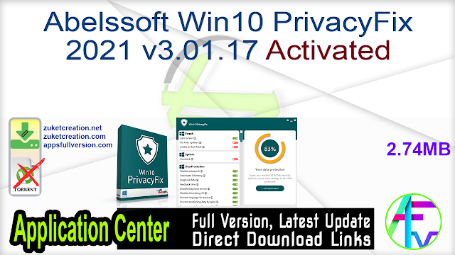 Abelssoft Win10 PrivacyFix 2021 v3.01.17 Activated