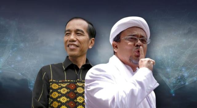 Mampu Gerakkan Massa, HRS Dinilai Lebih Dipercaya Rakyat daripada Jokowi