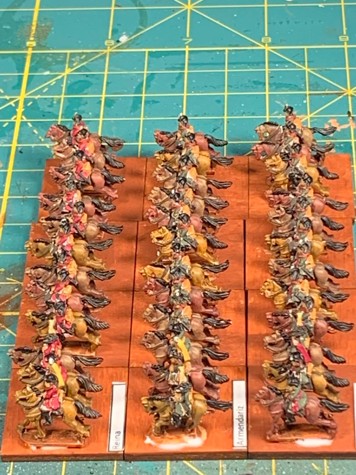 Operation: Wargaming!: Three more Spanish Cavalry units are done
