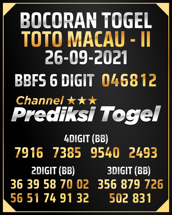 Predksi Shio Toto Macau P2