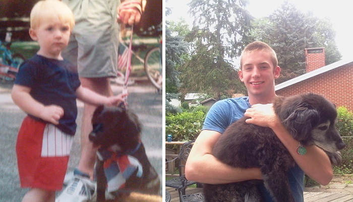 30 Heart-Warming Photos Of Dogs Growing Up Together With Their Owners - 20 Years Later And Still Goin Strong