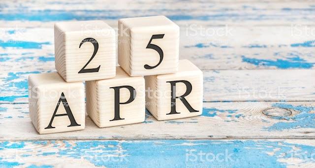 25 de Abril- O dia de hoje na história: fatos e acontecimentos em Elesbão Veloso.