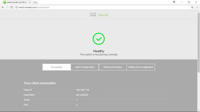 My Network Lab: Configuring Meraki MS Cloud Managed Switch