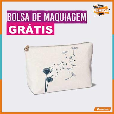 Brindes Grátis - Bolsa de Maquiagem