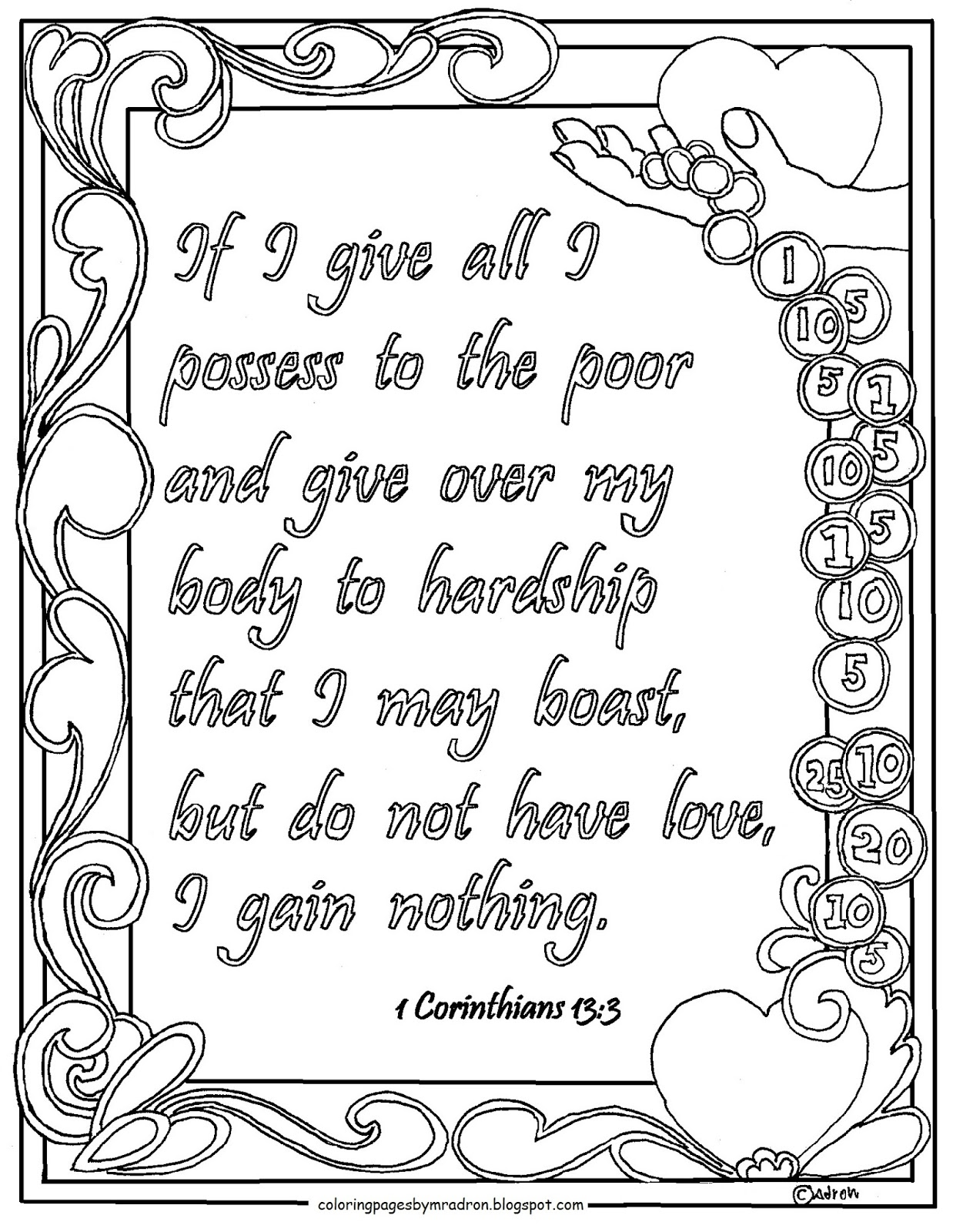 This is a photo of Smart 1 Corinthians 13 Coloring Page