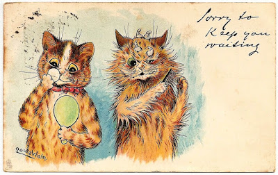 Louis Wain cats postcard