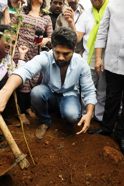 Allu arjun in haritha haram program images stills gallery