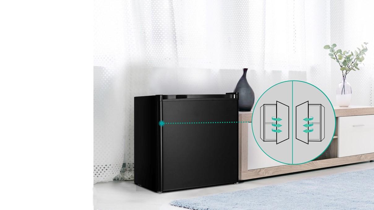 Tủ lạnh Casper RO-45PB mở cửa tủ linh động từ 2 bên