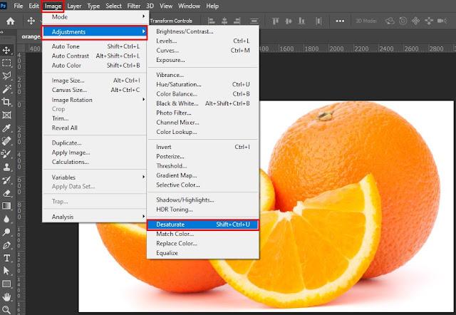 Cara Membuat Foto Hitam Putih di Photoshop Dengan Desaturate