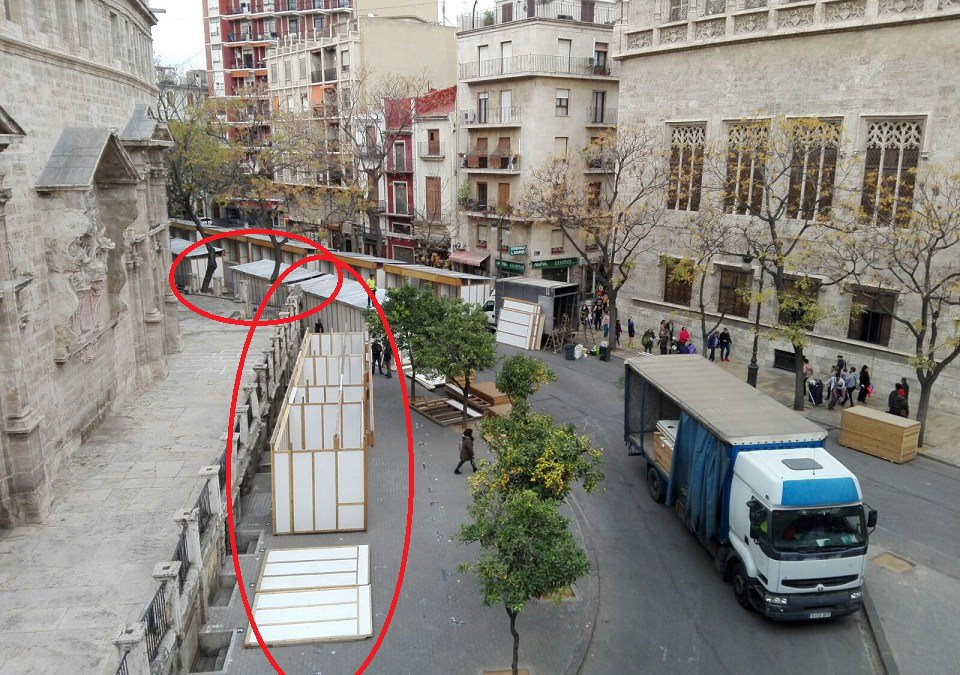 El Ayuntamiento de Valencia autoriza la instalación de unas casetas ...