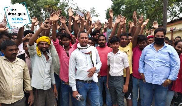 सुगौली में ग्रामीणों ने काटा प्रखण्ड मुख्यालय पर बवाल
