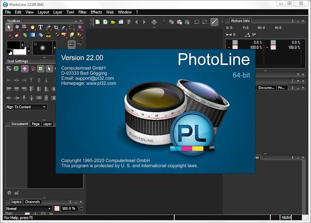 Screenshot PhotoLine 22.00 Full Version