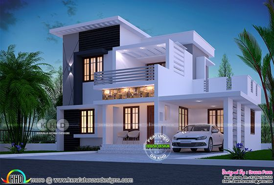1750 square feet 4 bhk modern home design