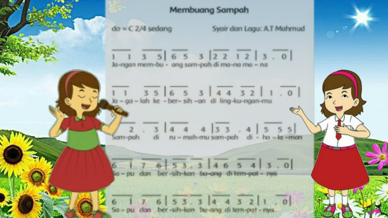 lirik lagu Membuang Sampah - AT Mahmud