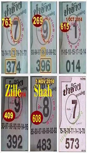 Thai Lotto Single Sure Digit 16-11-2014