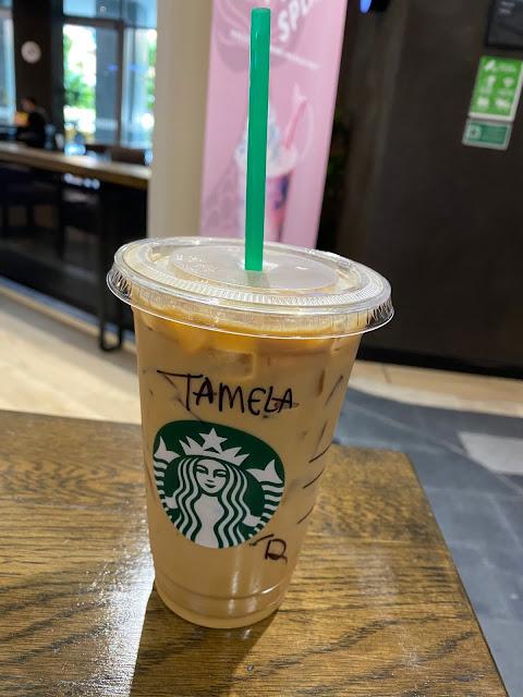 Tamela starbucks hazelnut latte