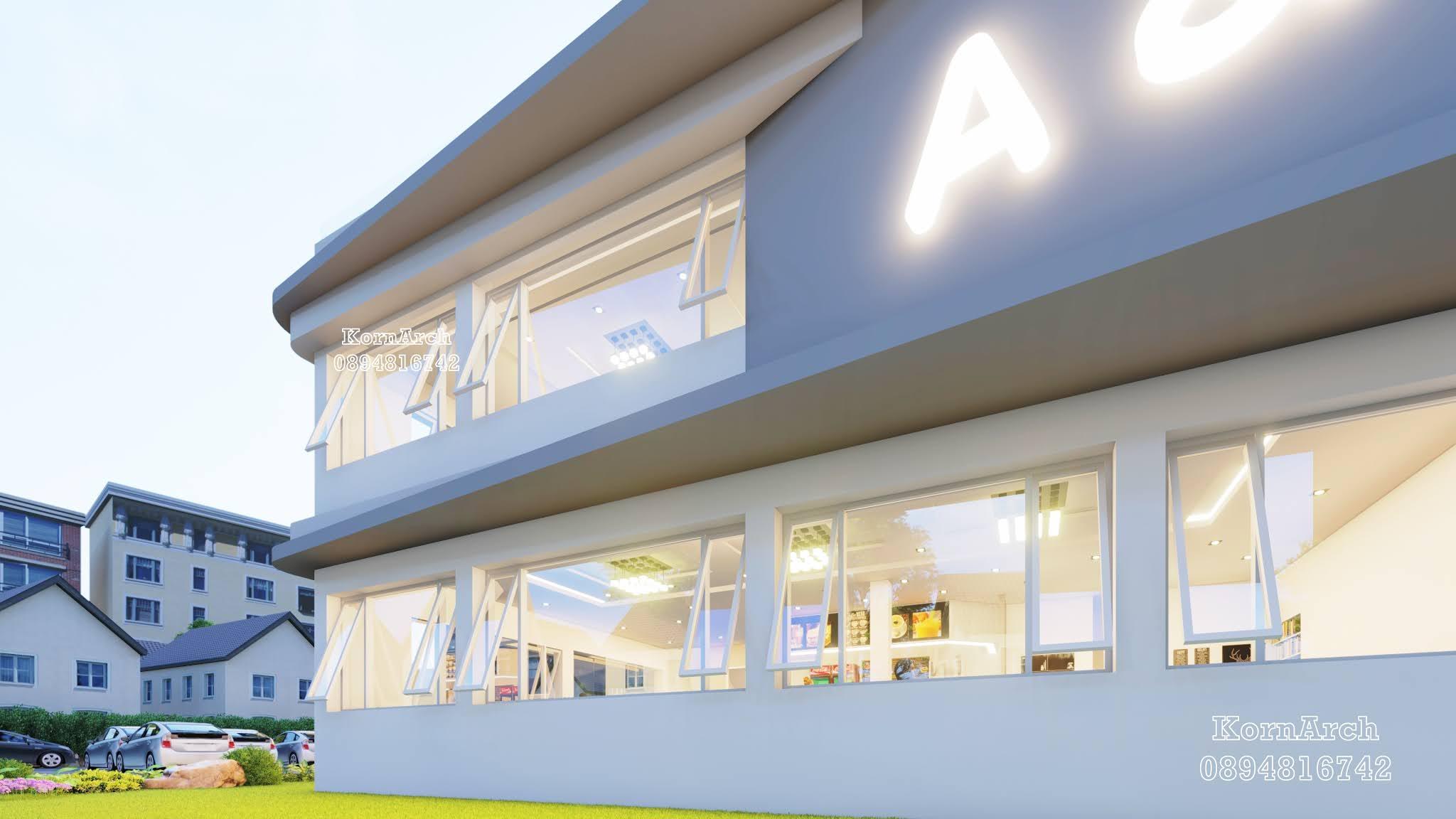 รับออกแบบร้านกาแฟ,ร้านอาหาร3ชั้น  เจ้าของอาคารคุณณิชากร  สถานที่ก่อสร้าง อ.เมือง จังหวัดเชียงราย