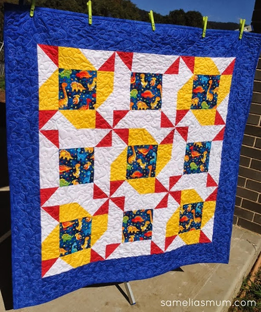 Whirligigs and Pinwheels Quilt Free Tutorial designed by Anorina Morris of Samelia's Mum