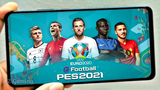PES 2021 Mobile UEFA EURO OBB Patch V5.4.1 Android New Songs Menu Logos and Kits 2022 Best Graphics