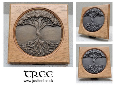 Celtic Tree of Life Bronze & Oak Plaque